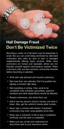 Hail Damage Fraud Brochure
