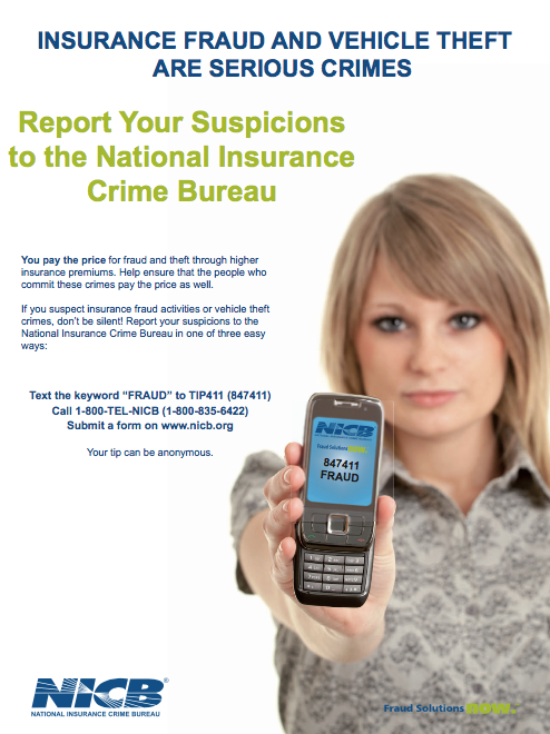 what is the purpose of the national insurance crime bureau - Order Brochures & Posters National Insurance Crime Bureau