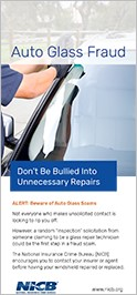 Auto Glass Fraud Flyer