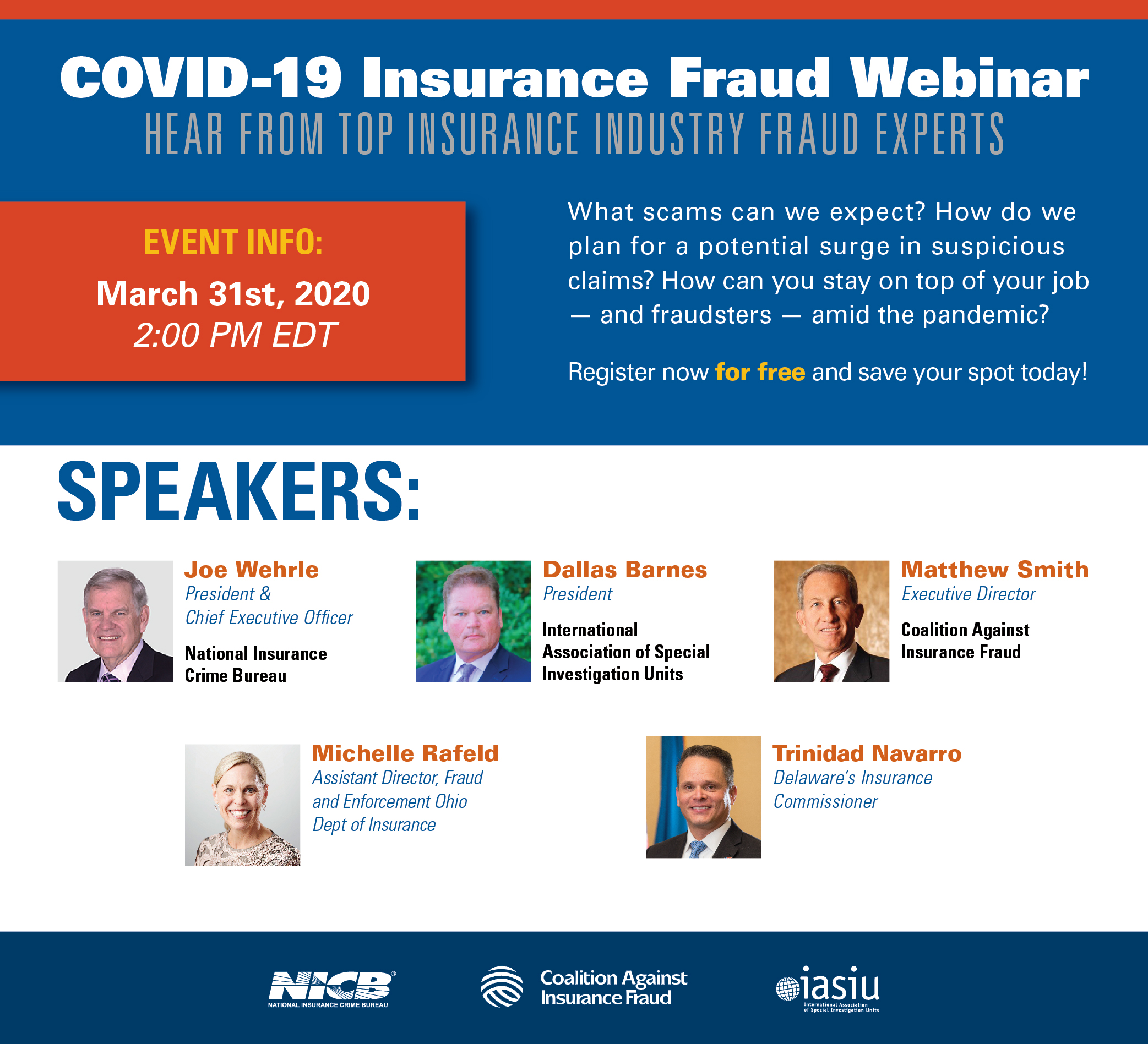 Covid 19 Insurance Fraud Webinar On March 31 National Insurance