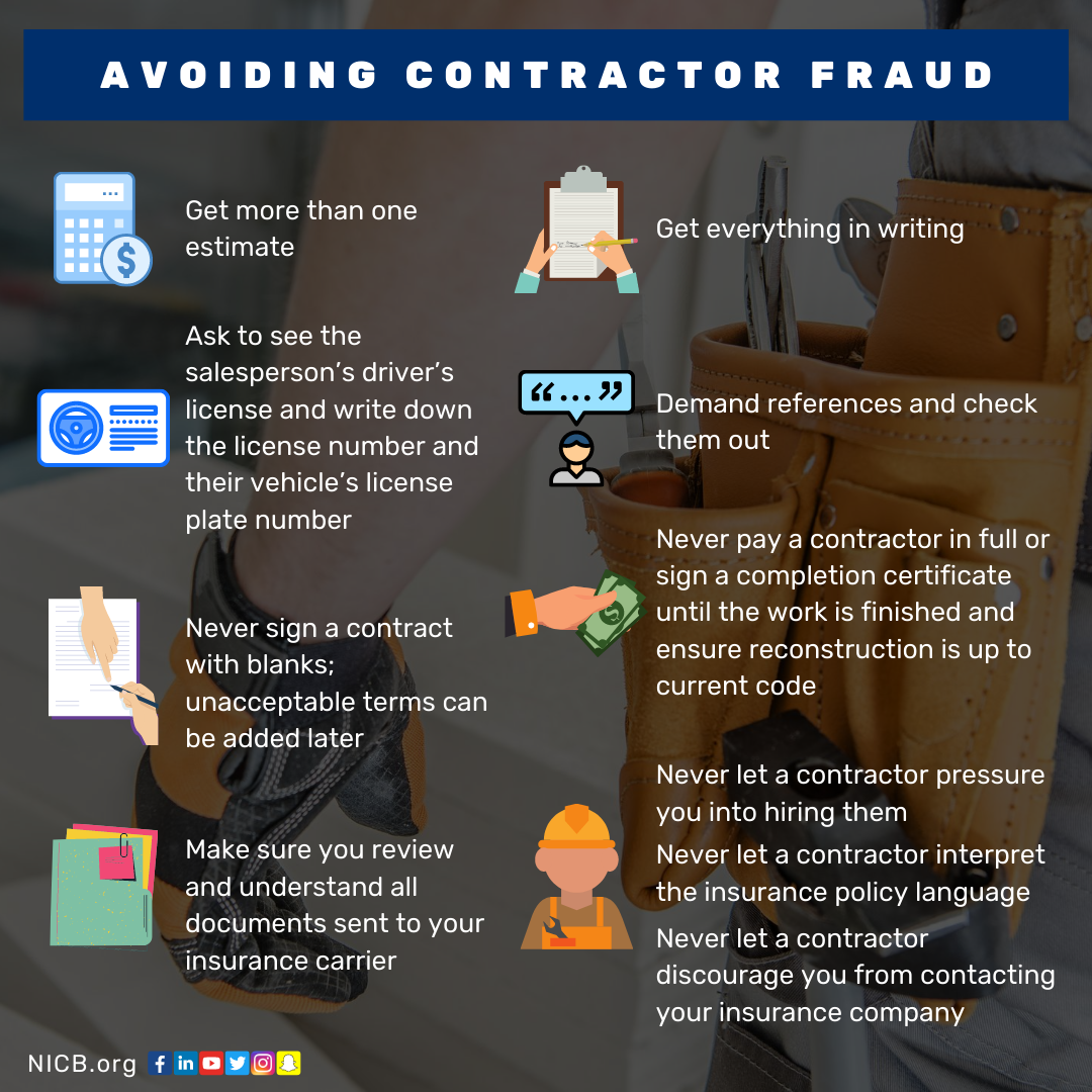 Contractor Fraud Infographic
