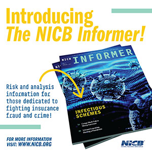 The NICB Informer Times Square graphic